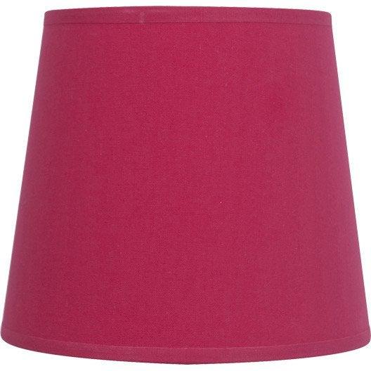 abat jour conique 17 cm toiline rose shocking n 3 inspire leroy merlin. Black Bedroom Furniture Sets. Home Design Ideas