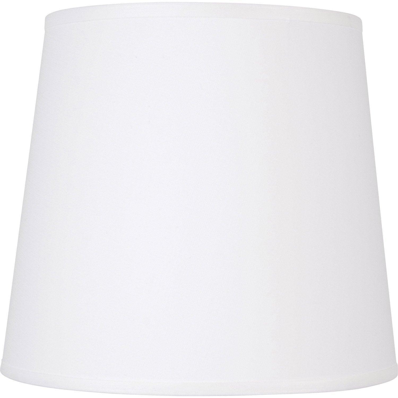 Abat-jour Conique, 40 cm, toiline, blanc-blanc n°0 INSPIRE | Leroy ...