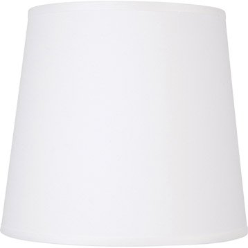 Abat-jour Conique, 40 cm, toiline, blanc-blanc n°0 INSPIRE