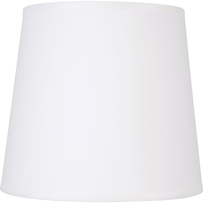 Abat-jour Conique, 45 cm, toiline, blanc-blanc n°0 INSPIRE   Leroy ...