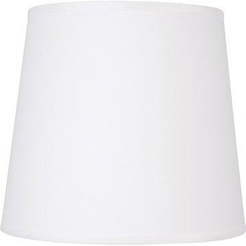 Abat-jour Conique, 14 cm, toiline, blanc-blanc n°0 INSPIRE