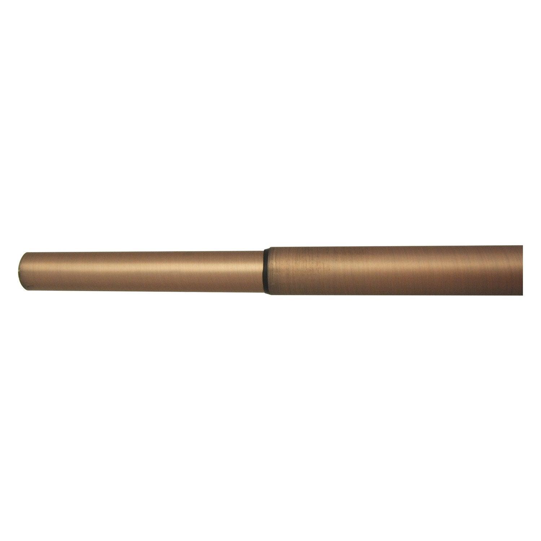 tringle rideau extensible design cuivre mat de 200 360 cm inspire leroy merlin. Black Bedroom Furniture Sets. Home Design Ideas