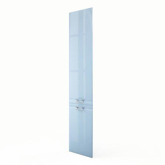 Porte colonne de cuisine bleu f40 200 crystal l40 x h200 for Colonne cuisine 40 cm
