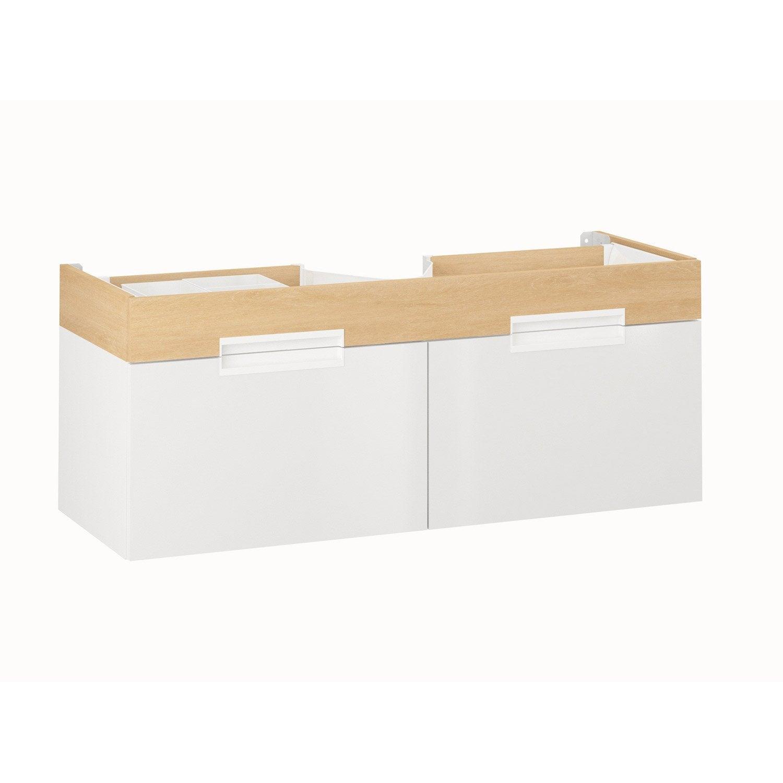 meuble sous vasque l 120 x h 48 x p 45 cm eden 5 Superbe Double Vasque Salle De Bain 120 Cm Galerie 2018 Ldkt