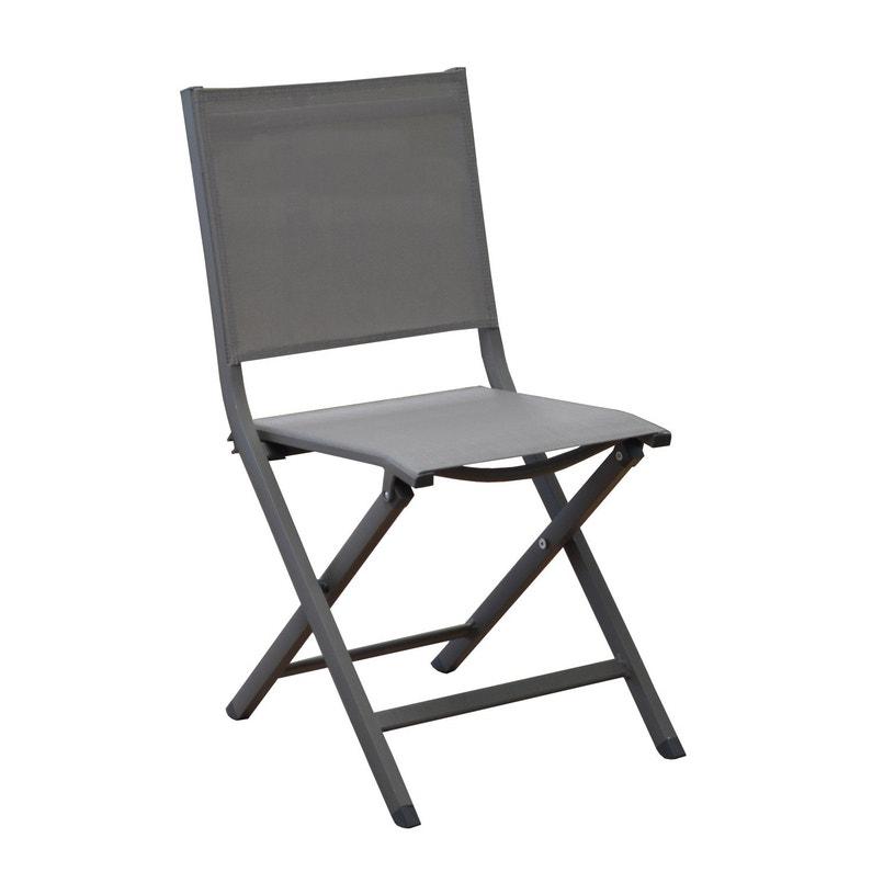 chaise de jardin en aluminium th ma caf leroy merlin. Black Bedroom Furniture Sets. Home Design Ideas