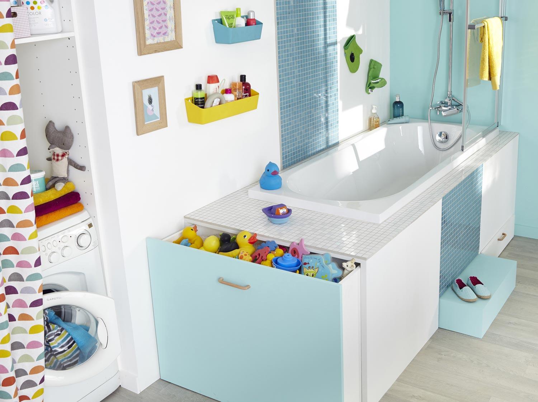 Comment réaliser un rangement baignoire astucieux ?