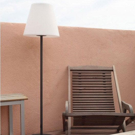 Lampadaire solaire arte 130 lm blanc watt home leroy for Eclairage exterieur solaire professionnel