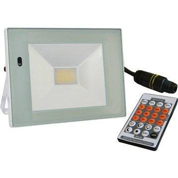 Projecteur à fixer extérieur LED intégrée 22 W = 1540 Lm, blanc