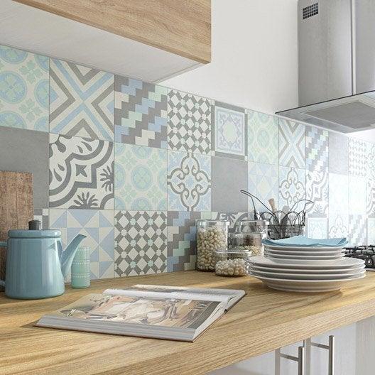 carreau de ciment belle poque d cor gris bleu vert et blanc leroy merlin. Black Bedroom Furniture Sets. Home Design Ideas