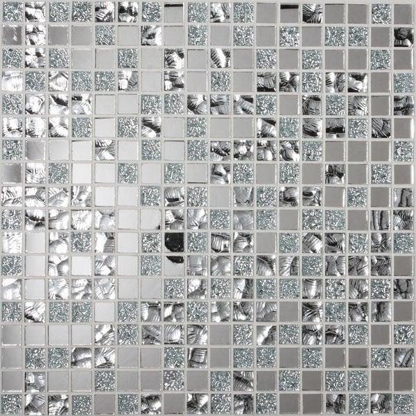 Mosaïque mur Ice tendance miror gris argent | Leroy Merlin