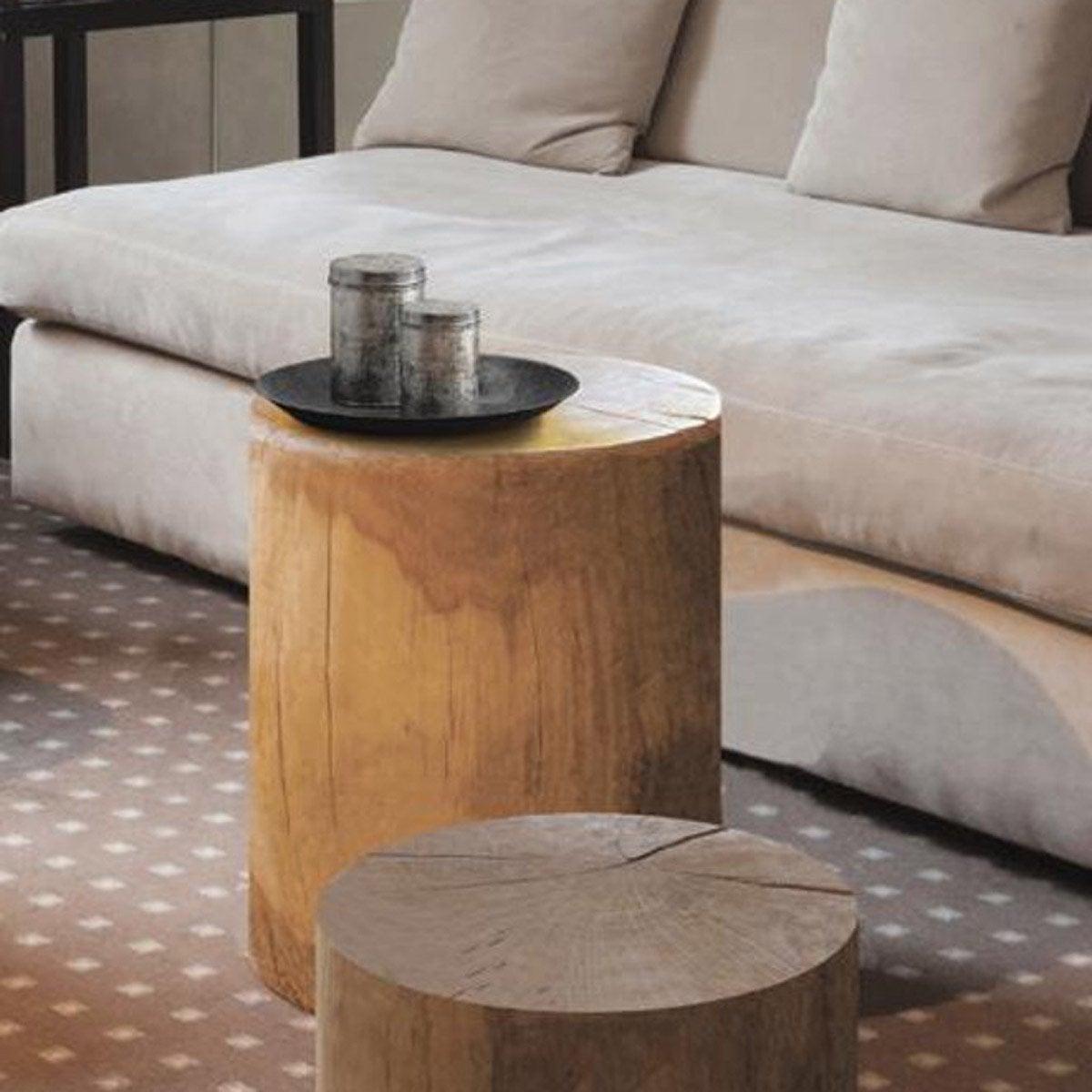 Rondin De Bois Table De Chevet rondin non traité sapin, 30 x 40 x 45 cm