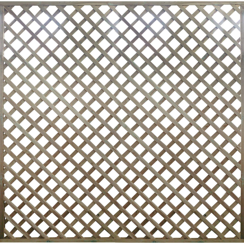 Panneau treillis bois ajouré Premices, l.180 x H.180 cm, naturel ...