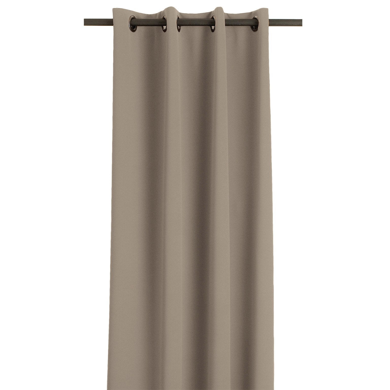 Rideau Occultant Thermique Taupe L 145 X H 260 Cm Leroy Merlin