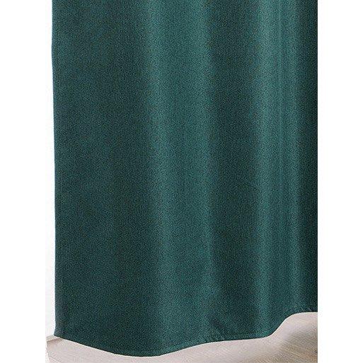 Rideau Occultant Calypso Recto Vert Emeraude Verso Blanc L 140 X