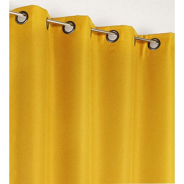 Rideau occultant, Calypso jaune l.140 x H.240 cm