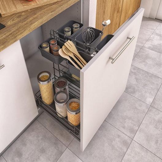 Rangement coulissant épices pour meuble ou colonne l.60 cm | Leroy Merlin