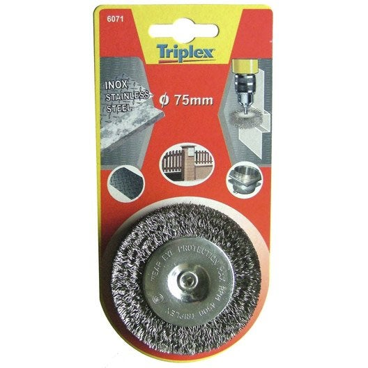 Brosse circulaire perceuse pour inox tivoly mm - Brosse pour perceuse ...