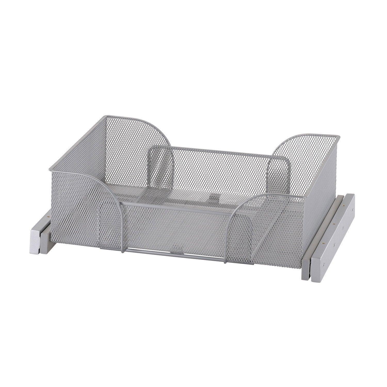 panier coulissant extensible gris x x cm leroy merlin. Black Bedroom Furniture Sets. Home Design Ideas