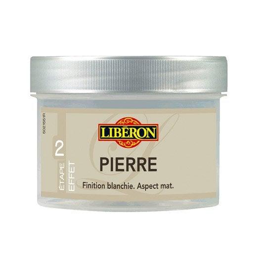 Patine mat liberon effet pierre blanc l leroy - Peinture liberon effet patine ...