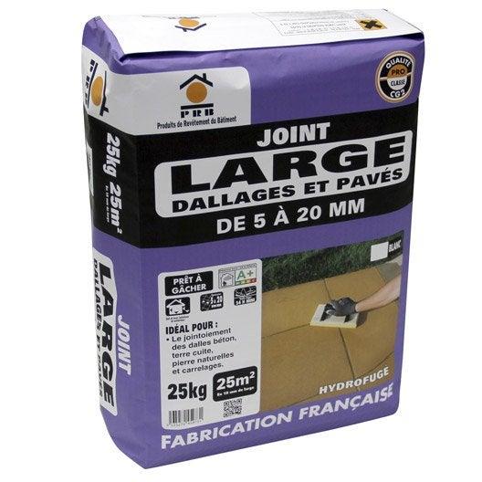 joint de dallage blanc prb 25 kg leroy merlin. Black Bedroom Furniture Sets. Home Design Ideas