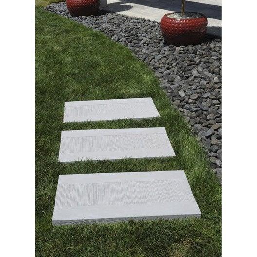 dalle de cheminement canisse en pierre reconstitu e gris leroy merlin. Black Bedroom Furniture Sets. Home Design Ideas