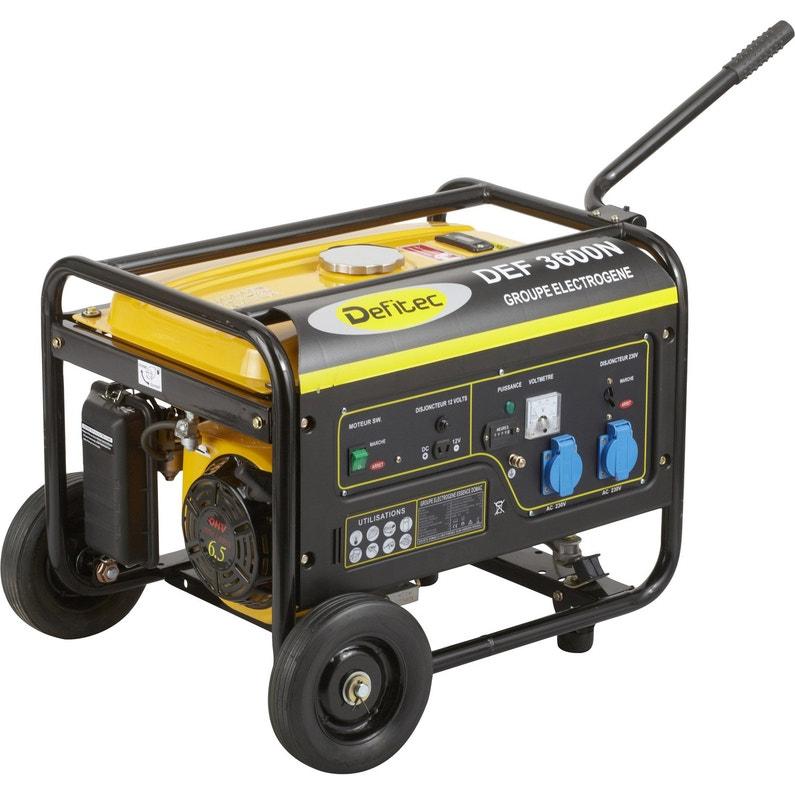 Groupe électrogène essence de chantier DEFITEC Defitec 3600 + chariot, ... 30b87226ce92