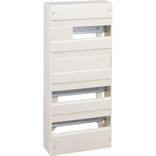 tableau lectrique nu debflex 4 rang es 52 modules leroy merlin. Black Bedroom Furniture Sets. Home Design Ideas