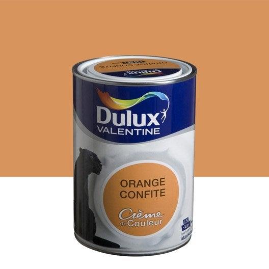 Peinture orange confite dulux valentine cr me de couleur l leroy merlin - Dulux valentine figue ...