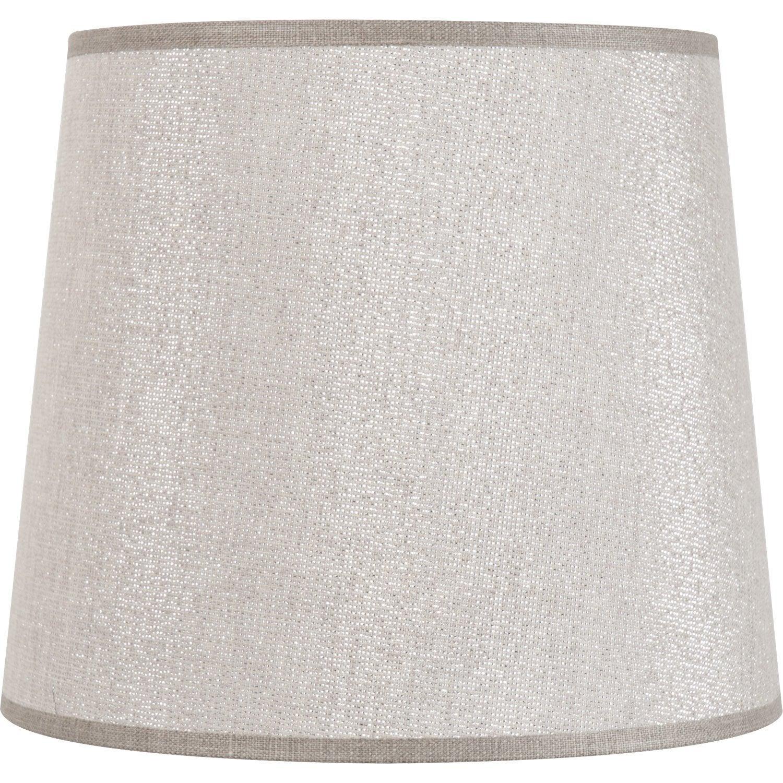 Abat-jour Conique, 17 cm, 50% coton, 50% polyester, shine | Leroy Merlin