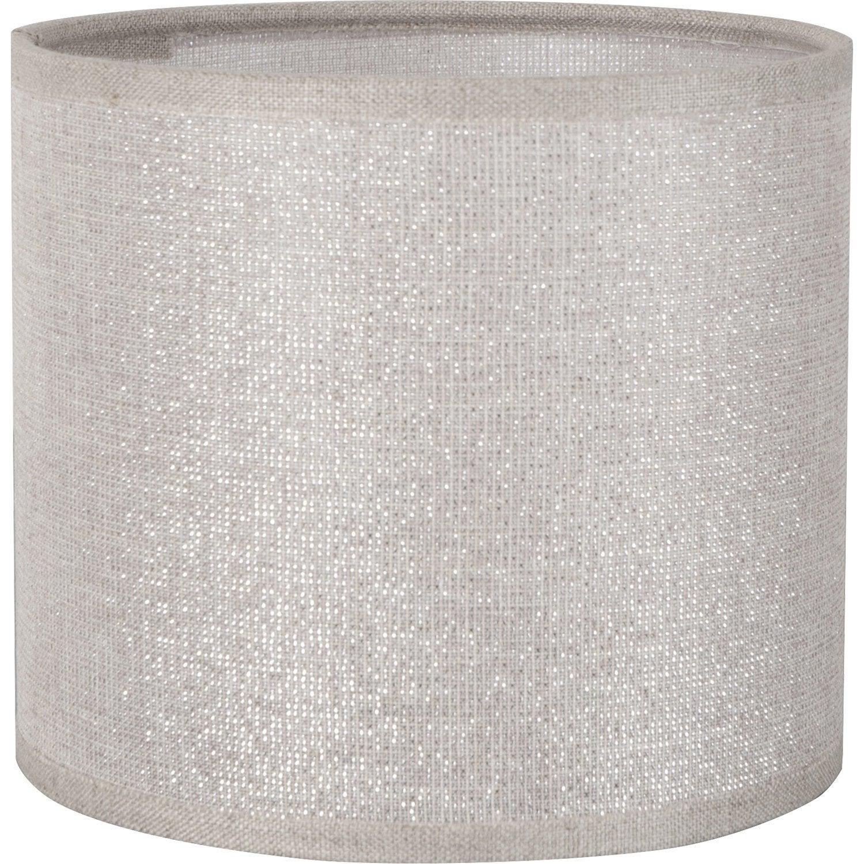 Abat Jour Tube 35 Cm Coton Shine Leroy Merlin