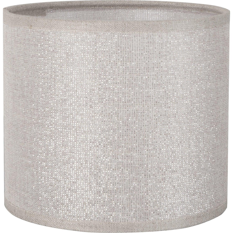 Abat Jour Tube 40 Cm Coton Shine Leroy Merlin