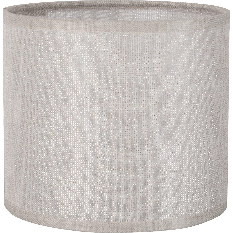 abat jour tube 25 cm coton shine leroy merlin. Black Bedroom Furniture Sets. Home Design Ideas