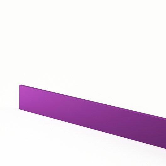 plinthe de cuisine violet d lice l 270 x h 15 cm leroy merlin. Black Bedroom Furniture Sets. Home Design Ideas