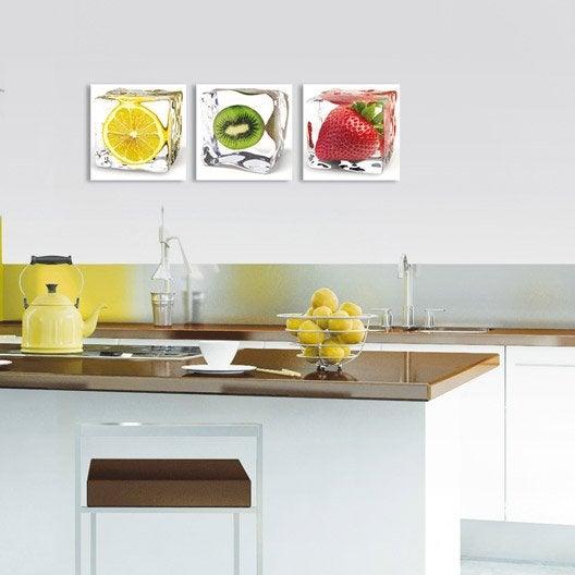 Verre imprim fraise glac e deco glass x cm for Tableau en verre imprime