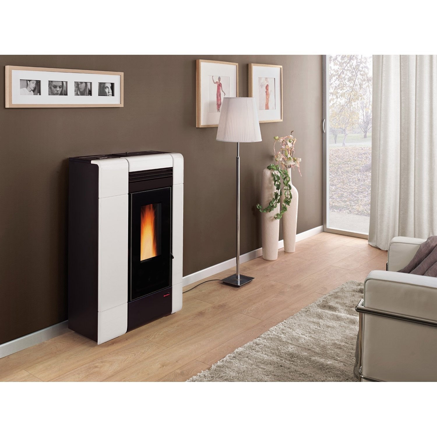 po le granul s extraflame ilenia blanc 8 kw leroy merlin. Black Bedroom Furniture Sets. Home Design Ideas