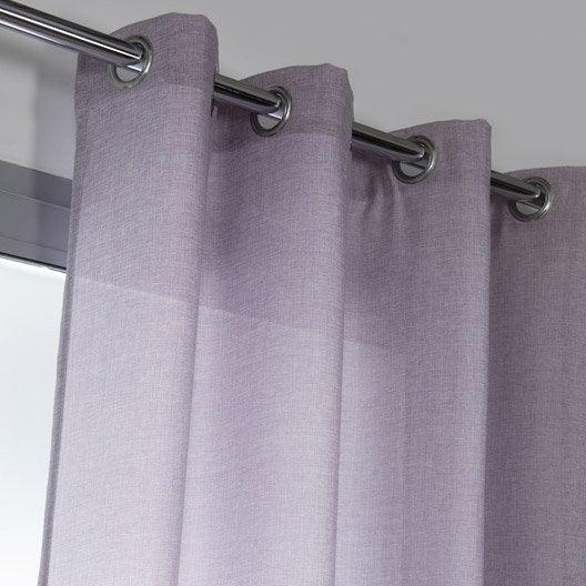 rideau tamisant copenhague parme x cm leroy merlin. Black Bedroom Furniture Sets. Home Design Ideas