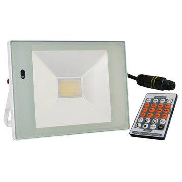 Projecteur à fixer extérieur LED intégrée 32 W = 2366 Lm, blanc