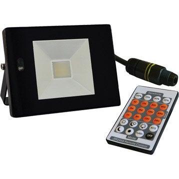 Projecteur à fixer extérieur LED intégrée 12 W = 765 Lm, noir