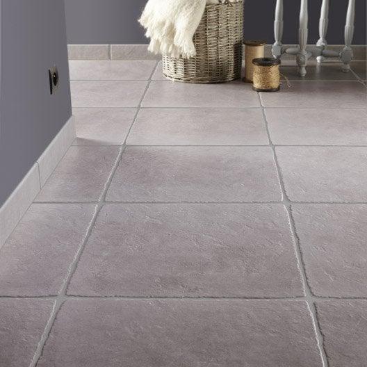 Carrelage sol et mur gris effet pierre toscane x - Joint carrelage mur ...