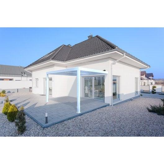 pergola adoss e orient aluminium blanche 12 m leroy merlin. Black Bedroom Furniture Sets. Home Design Ideas
