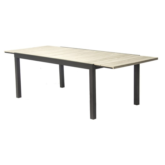 Table de jardin polywood rectangulaire gris 10 personnes leroy merlin - Table jardin 10 personnes ...