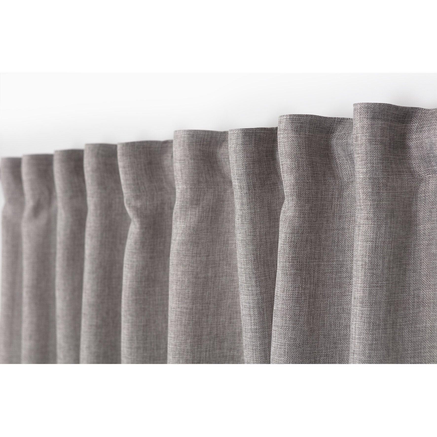 Rideau tamisant grande largeur, Copenhague ruflette, gris, l.200 x H ...