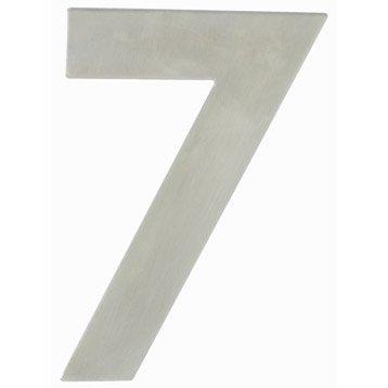 Chiffre 7 en acier inoxydable