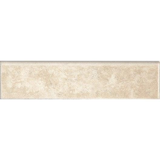 Lot de 4 plinthes england beige l 8 x cm leroy merlin for Plinthes en carrelage