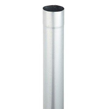 Tuyau de descente acier galvanisé gris Diam.80 mm L.2 m SCOVER PLUS