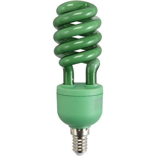 ampoule spirale fluorescente verte 15w e14 lexman leroy. Black Bedroom Furniture Sets. Home Design Ideas