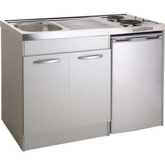 kitchenette electrique gris aluminium spring x x cm leroy merlin. Black Bedroom Furniture Sets. Home Design Ideas