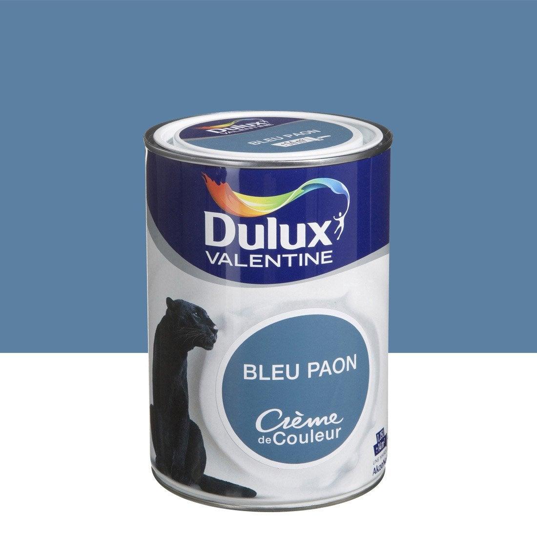 Peinture bleu paon dulux valentine cr me de couleur l - Peinture dulux valentine avis ...