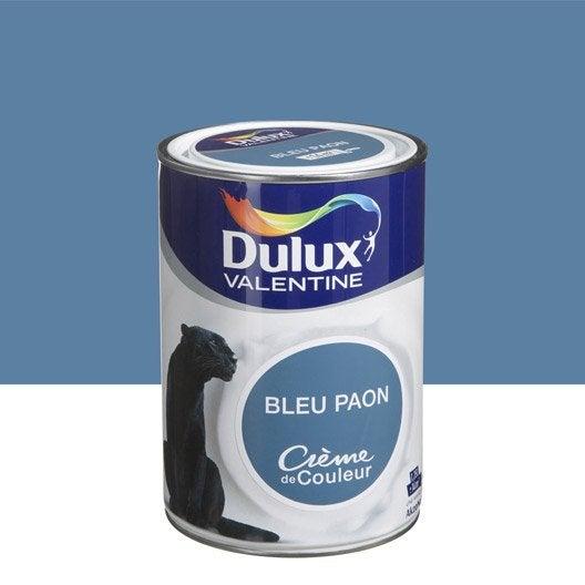 peinture bleu paon dulux valentine cr me de couleur l leroy merlin. Black Bedroom Furniture Sets. Home Design Ideas