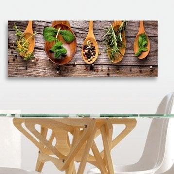 Verre imprimé Spoons & herbs DECO GLASS l.80 x H.30 cm
